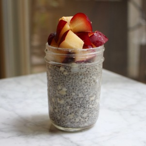 chia pudding with fresh necatrine